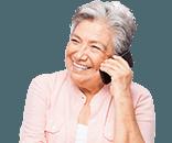 Senior woman on the phone