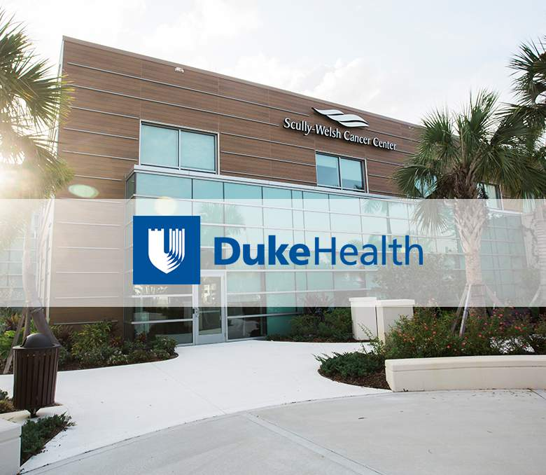 Scully-Welsh Cancer Center Building and Duke Health logo.