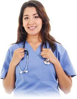 Nurse holding stethascope